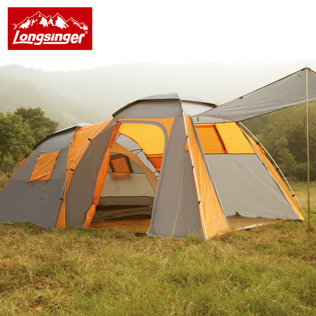 c&ing equipment aluminum rod family tent double layer outdoor 4 season tent tent 3 person double : four season family tent - memphite.com