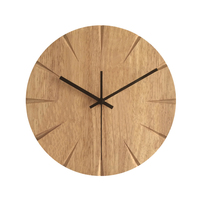12 inch Silent Wood Wall Clock Simple Modern Design Wooden Clocks for Bedroom Wood Wall Watch Home Decor