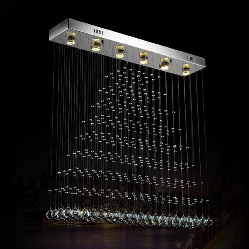 100*20*100cm Modern LED ceiling lamp/light curtain living room lamps rectangular dining room hanging suspension pendant lights a1 master bedroom living room lamp crystal pendant lights dining room lamp european style dual use fashion pendant lamps