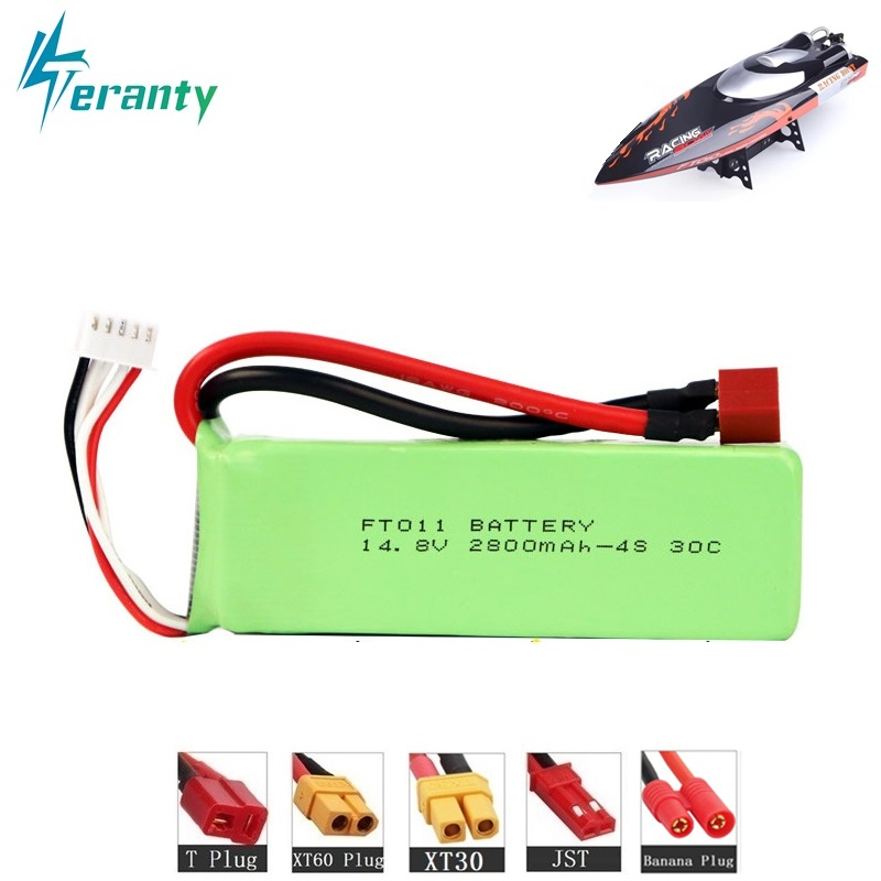 14.8V 2800mah BATTERY RC 4s Lipo Battery 14.8V 2800mah 30C For FT010 FT011 RC Boat RC Helicopter Airplanes Car Quadcopter 803496