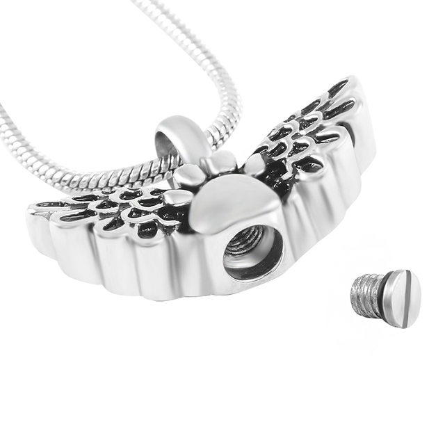 Winged Paw Urn Necklace