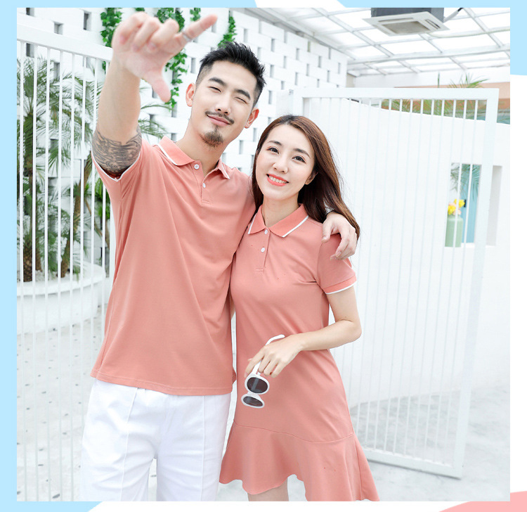 HTB1jXG5XuH2gK0jSZFEq6AqMpXar - family matching outfits summer Polo shirt mother daughter matching dresses dad son turn down collar family couple clothes
