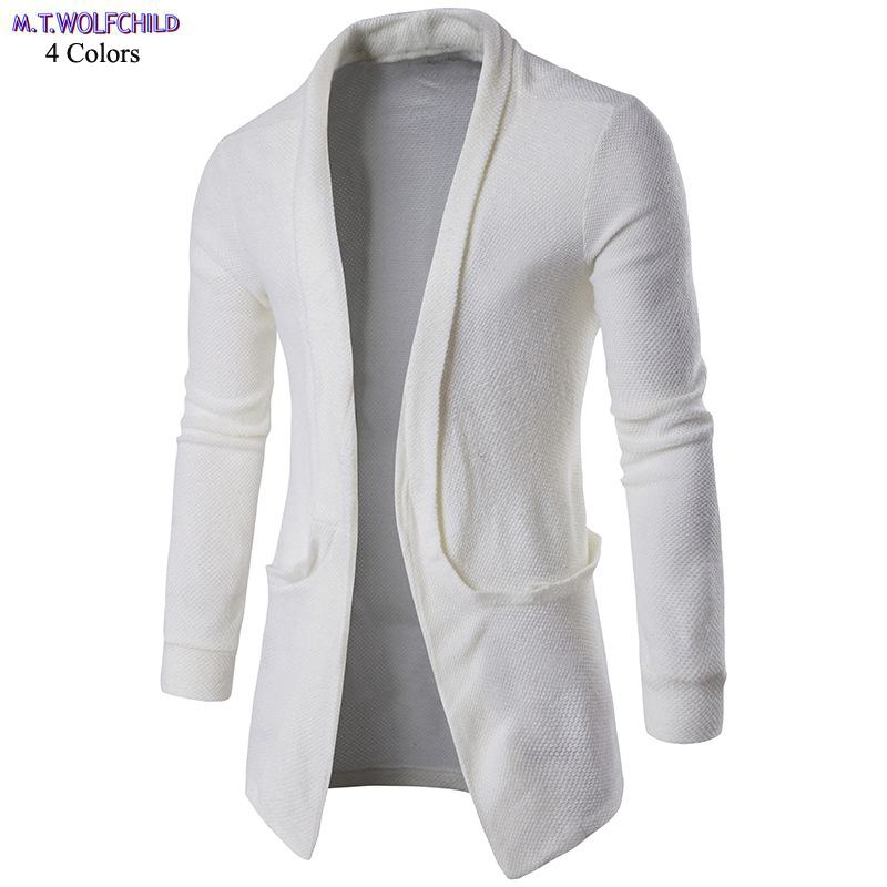 Good Quality 2018 New Autumn Mens Long Sleeve V-neck Knitted Sweaters Casual Mens Cardigan Knitted Coats Fashion Mens Clothing