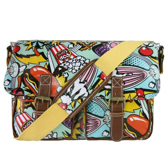 nuova collezione 79cec 11c52 US $26.99 |LA SIGNORINA LULU 2017 donne borsa a tracolla colorata borse a  tracolla borse a tracolla per le donne Del Fumetto pane sacchetto di scuola  ...