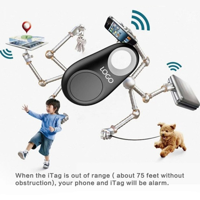1 pcs Smart Mini Waterproof Bluetooth Tracer GPS Tracker for Pet Dog Cat Keys Wallet Bag Kids Finder Pocket GPS Pet GPS Trackers