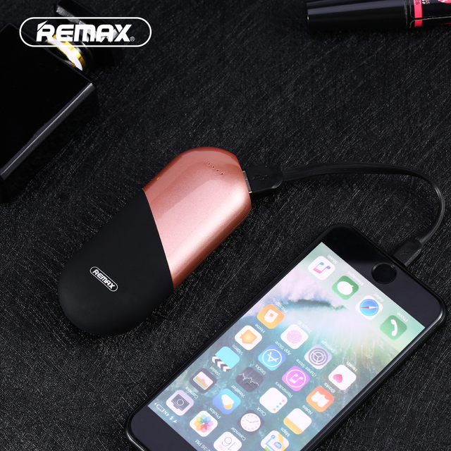 Remax RPL-22 Original 5000mAh 3 Colors External Battery Charger Backup Power Bank for CellphoneCapsule Shape Portable Poverbank