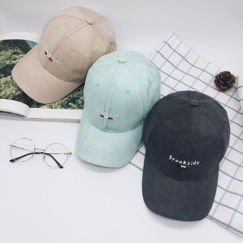 Prix pour Chapeau de mode Femmes et Hommes Coton Casquettes Femmes Brookdside casquette de baseball avec des bonbons couleurs Gorras de mujer 2016 Nouvelle arrivée
