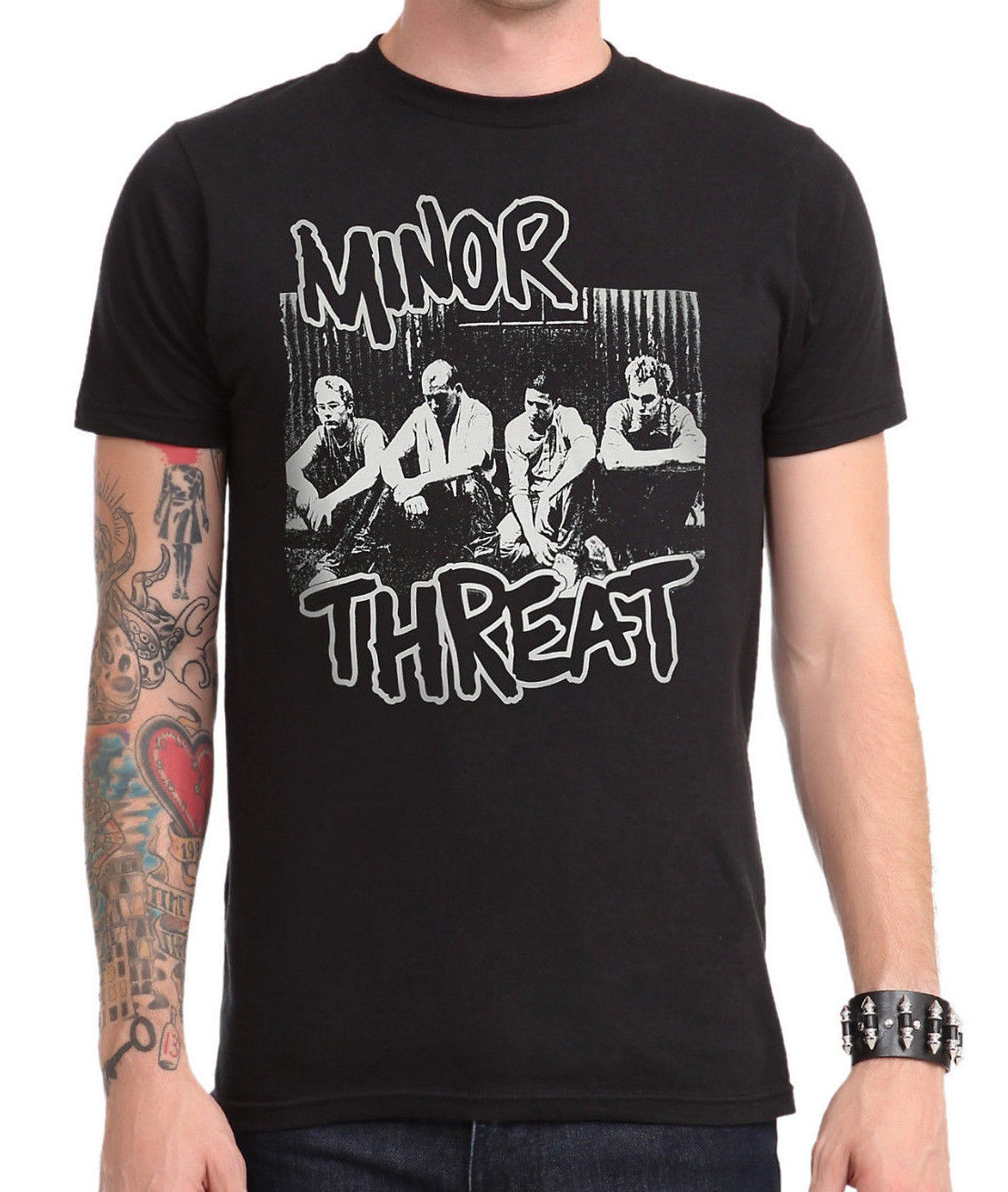 Minor threat group photo black t shirt brand new 2017 new for Group t shirts cheap