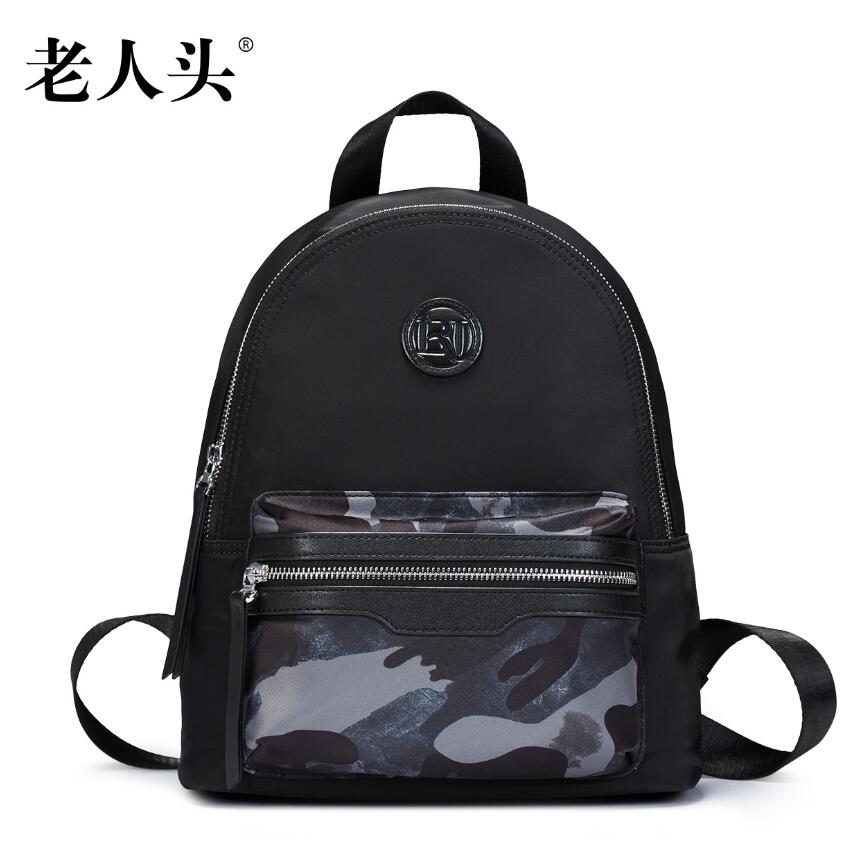 ФОТО LAORENTOU women bag 2017 New designer brand women bags Couple models camouflage cloth bag leisure fashion  women backpack