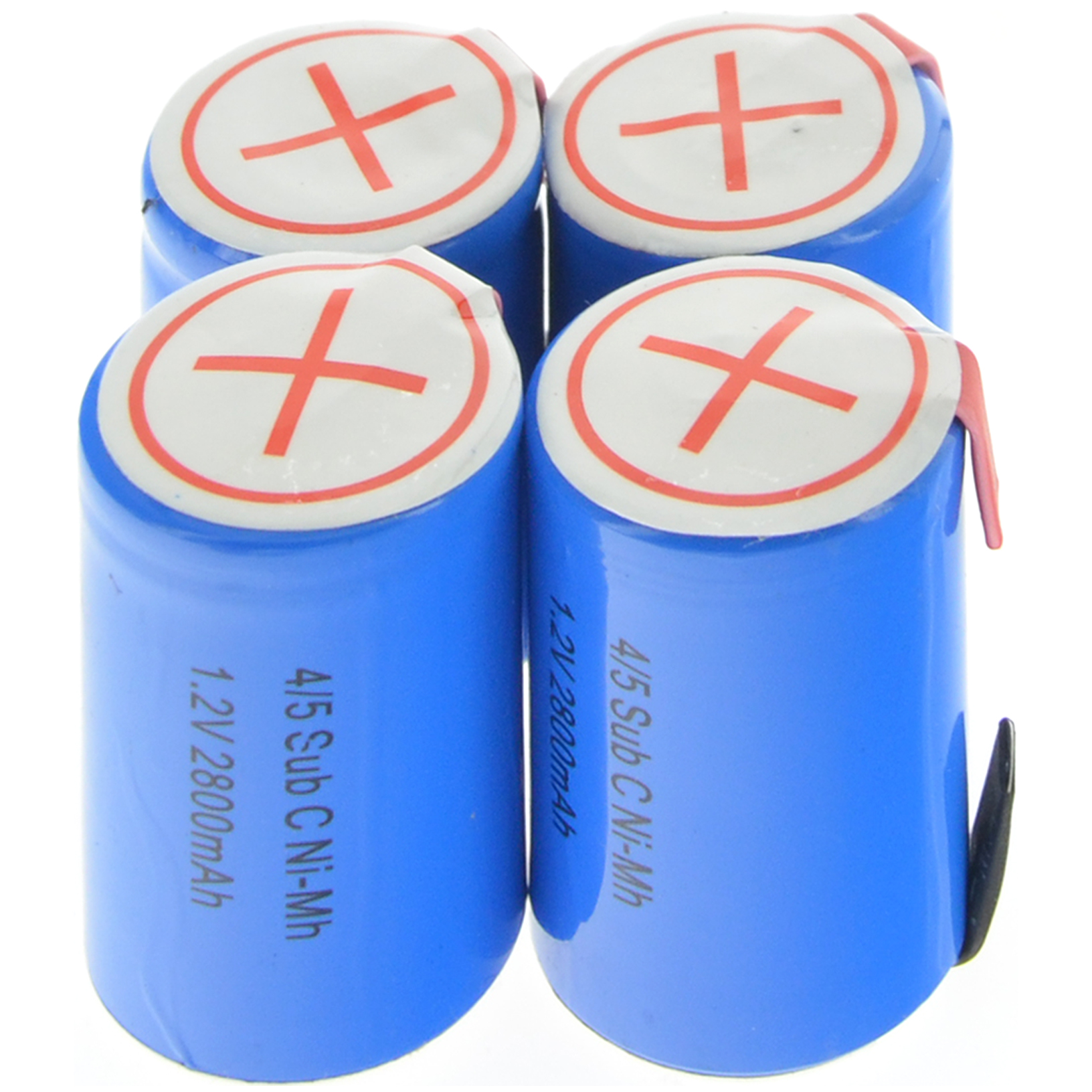 1/2/4/8/12/16/20pcs 4/5 SubC Sub C 2800mAh 12pcs <font><b>1.2V</b></font> Ni-Mh <font><b>Rechargeable</b></font> <font><b>Battery</b></font> Blue Cell with Tab image
