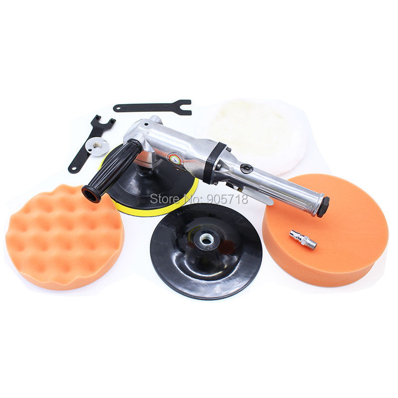 High Quality Professional 90 Degree 7 Inches Button-shaped Pneumatic Polisher Machine Air Sander Grinder ToolHigh Quality Professional 90 Degree 7 Inches Button-shaped Pneumatic Polisher Machine Air Sander Grinder Tool