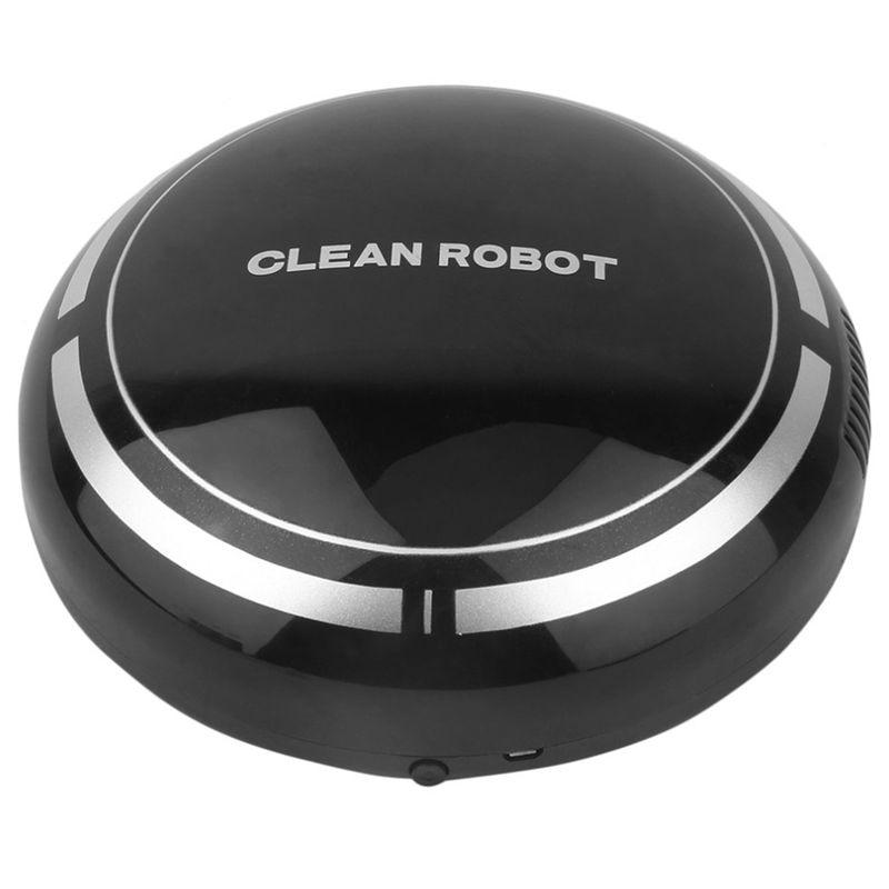 Nowy 2 w 1 akumulator podłogi robot odkurzający łapacz kurzu inteligentny automatyczny indukcyjny piętro zamiatanie odkurzacz robot (czarny)