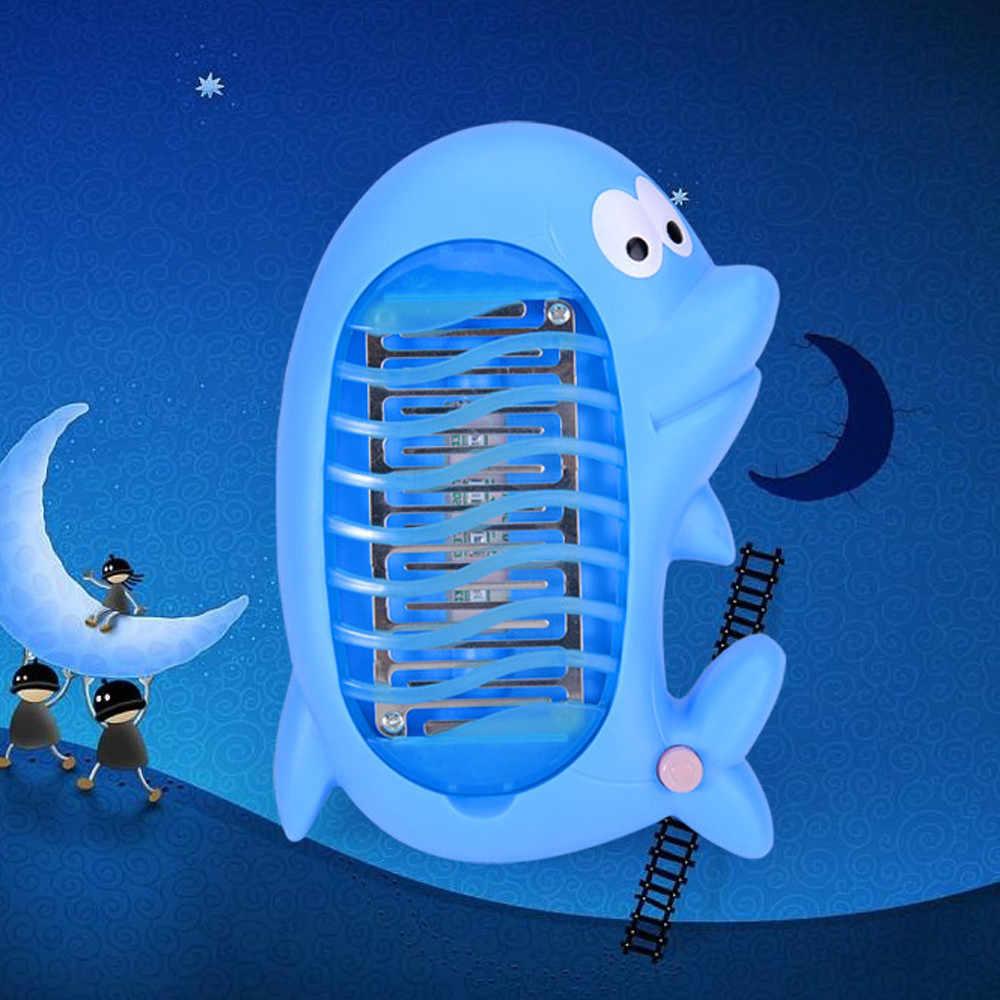 Милые животные комаров лампа детская спальня Электрический мух Жук убийца насекомых-комаров Светодиодный лампа ловушка лампа борьба с вредителями огни