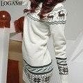 Camisola Com Veados Puxar Mulheres Pullover Blusas E Pullovers Jumper de Natal Jersey Mujer Femme Hiver Correspondência Kerst Trui Kazak
