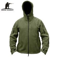 MEGE Marca Hombres militares tácticos ropa chaqueta de lana capa ocasional, sudadera con capucha del ejército outwear invierno de los hombres de la chaqueta casacos