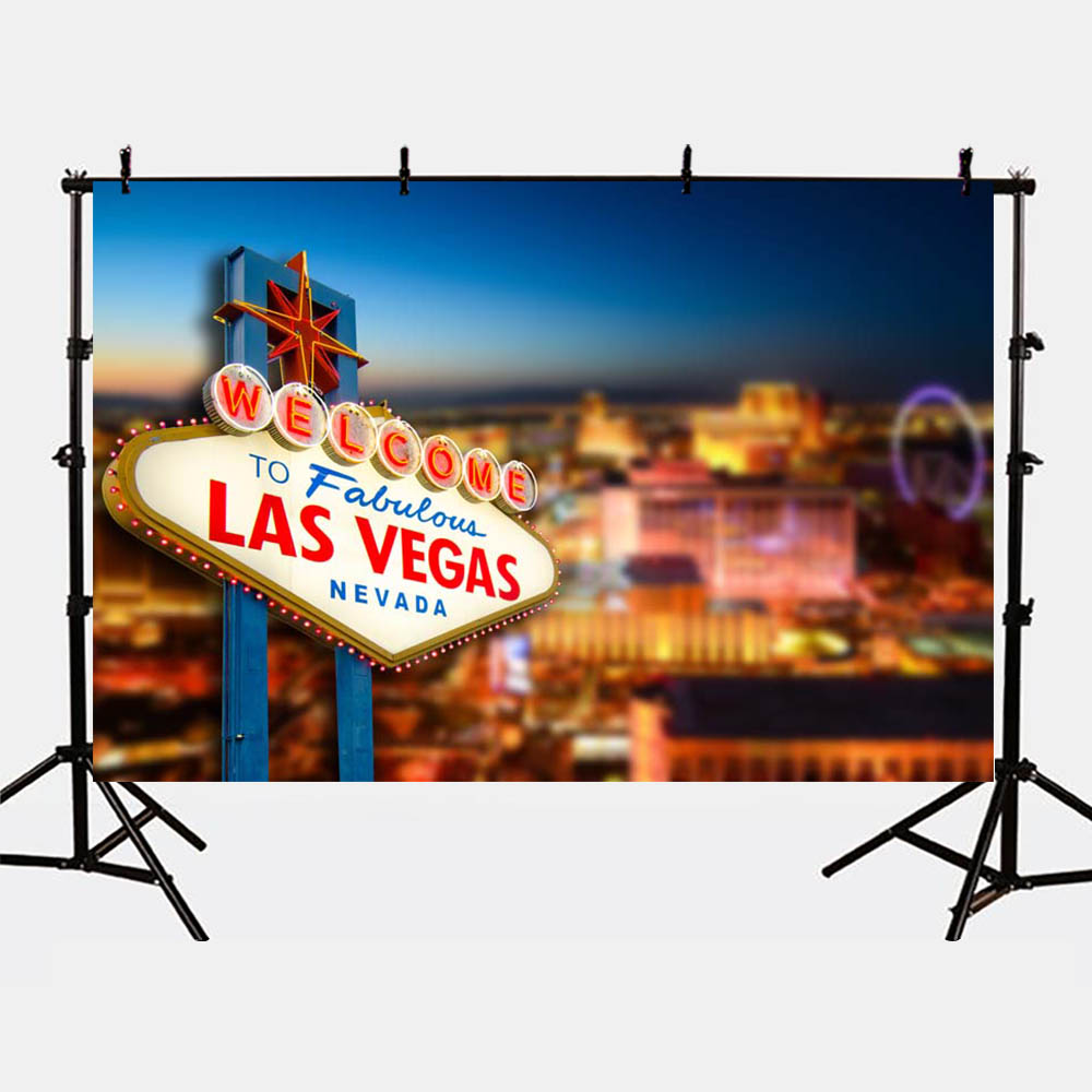 Mehofoto Las Vegas Birthday Theme Party Photo Backdrops Bokeh Background for Photography Studio Modern G-174