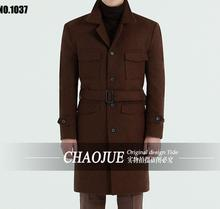 Very good quality ! Men's Fashion slim medium-long woolen coat business casual jacket winter coat men ! S-5XL free shipping
