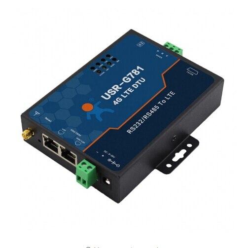 USR G781 Industrial transparent data transmission RS232/RS485 Serial to 4G LTE Modem with Ethernet Port