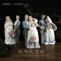 Творческий керамическая свадьбы Статуя Девушки Леди любителей домашнего декора ремесел украшения комнаты ремесленных фарфоровая старинн