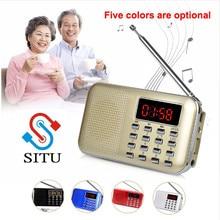 Мини L-218 цифровой ЖК MP3 радио динамик плеер Поддержка TF карта USB со светодиодный фонарик Функция портативный радио FM/AM динамик