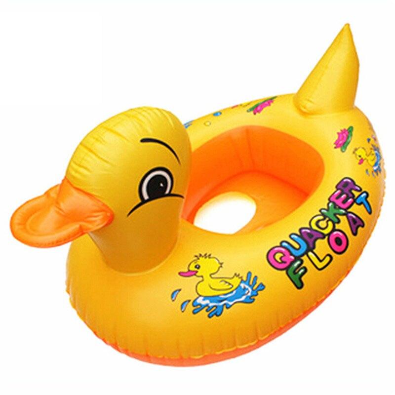 KORAMAN brand Small Yellow Duck Design Cute kids Baby Child Inflatable Swimming Laps Pool Swim Ring Seat Float Boat Water Sports