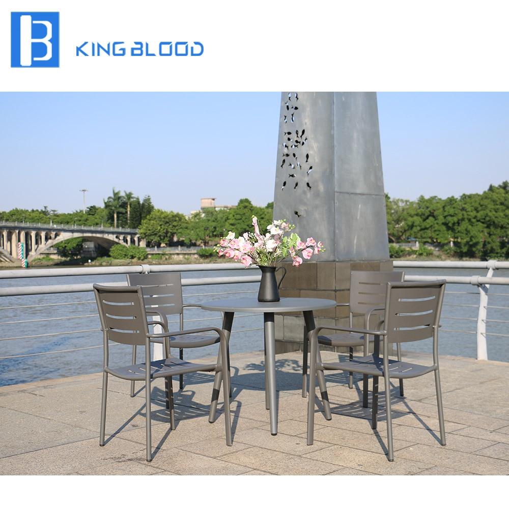 outdoor furniture rattan polywood dining set