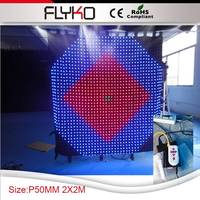 Free shipping 2*2m P50MM high definition flexible curtain led display SD controller