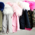 kids Fur Jacket Parka Girls Long Jackets Fur Kids Girls Coat Outerwear Warm Children's Hooded Jacket Children Girls Jacket
