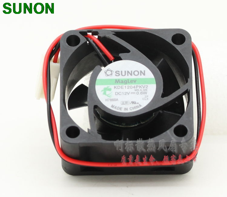 цена SUNON Maglev fan KDE1204PKV2 4cm 40mm 4020 12V 0.6W silent quiet server inverter cooling fan
