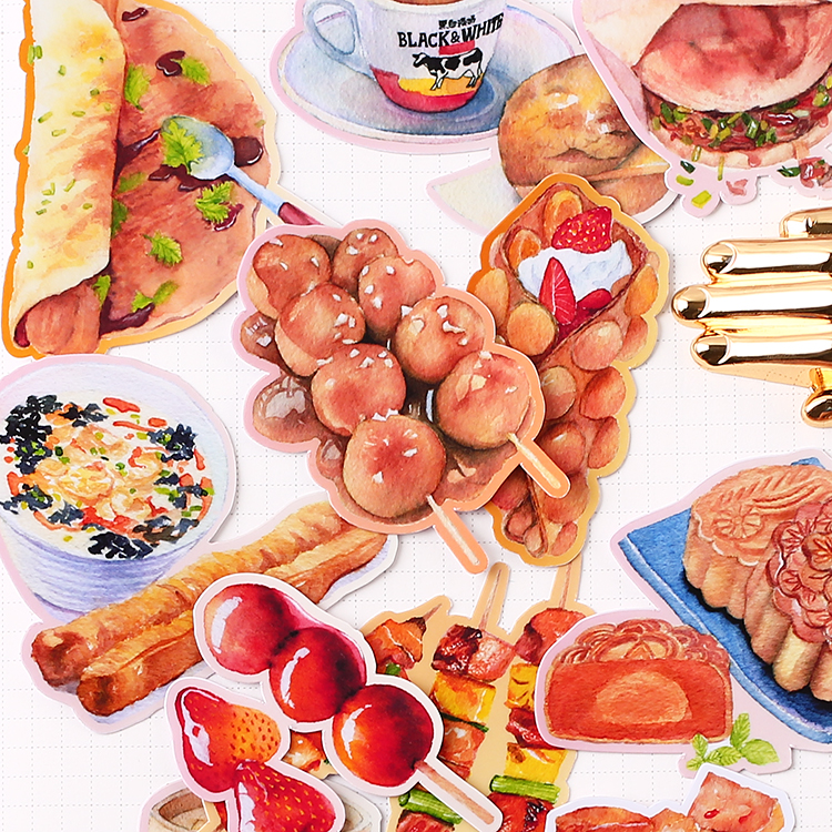 20pcs Creative Cute Self-made  Life Living Food/ Food Scrapbooking Stickers /Decorative Sticker /DIY Craft Photo Albums Kawaii
