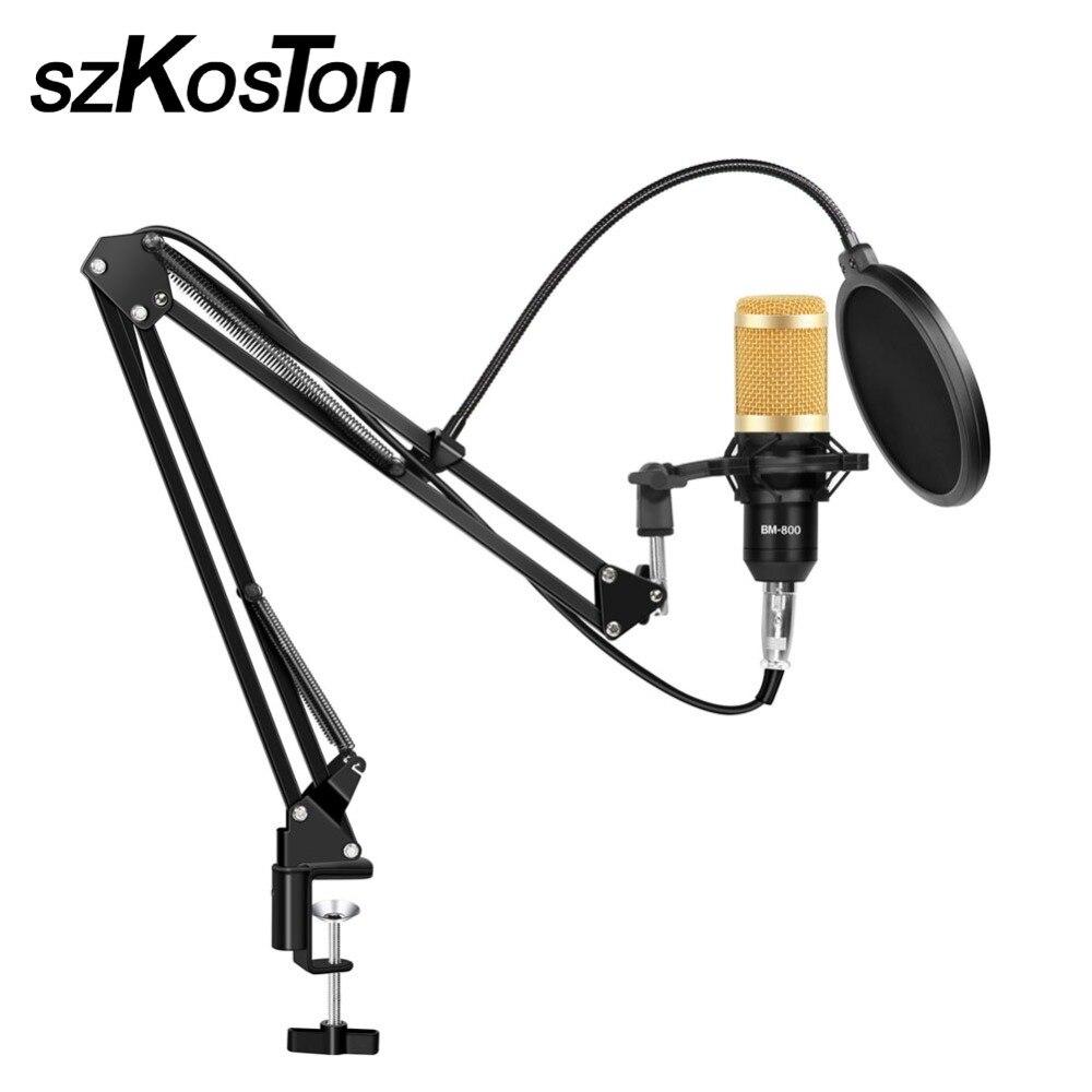 Microphone à condensateur BM800 Professionnel micro Studio pour KTV Microphon Stand pour Professionnel Studio Vocal Rrecording