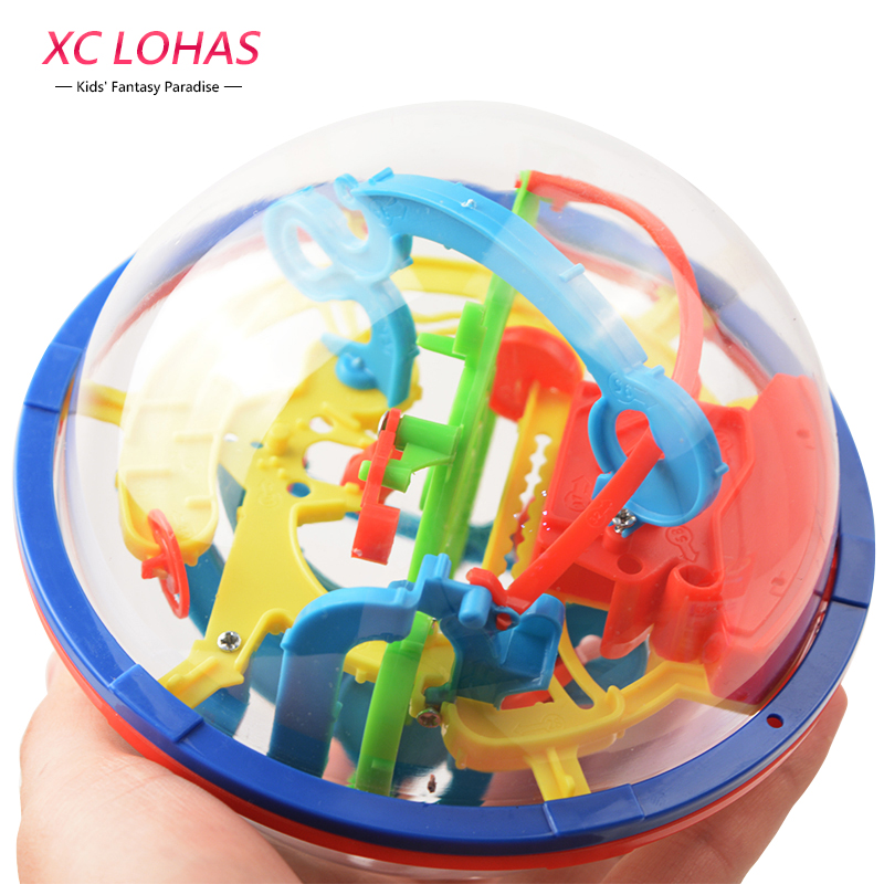 3D Magic Maze Ball 100 Levels Intellect Ball Rolling Ball Puzzle Game Brain Teaser Children Learning Educational Toys Orbit Game