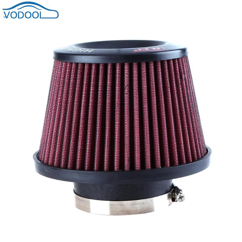 Washable Universal Auto car Intake Air Filter Car Refitting High Flow Cone Filter 65/76 mm Auto Replacement Parts