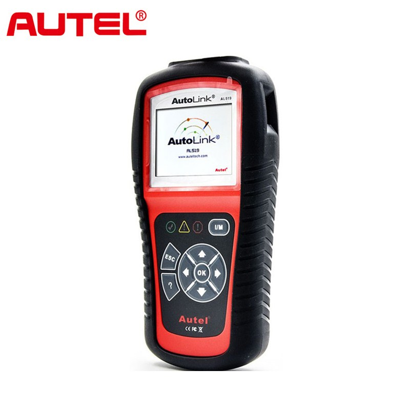 Autel Autolink AL519 Universal OBD2 Scanner Car DTC Code Read Scan AL-519 OBDII Auto Diagnostic-Tool OBD 2 II Scaner PK MS509 100% original autel maxidiag elite md701 all system ds model obdii auto code reader md 701 for japanese cars