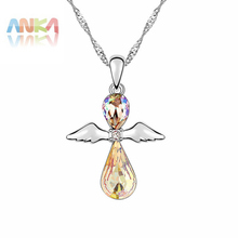 New Year Gift Fashion Crystal Necklace Lovely Angel Pendant Crystals from SWAROVSKI Free Shipping Wholesale #93406