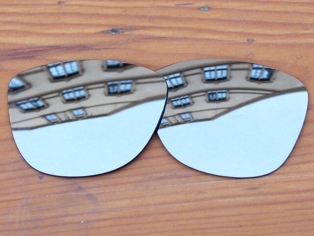 Серебристый хром Зеркало Поляризованных Сменные Линзы Для Frogskins Солнцезащитные Очки Кадров 100% UVA и UVB Защиты