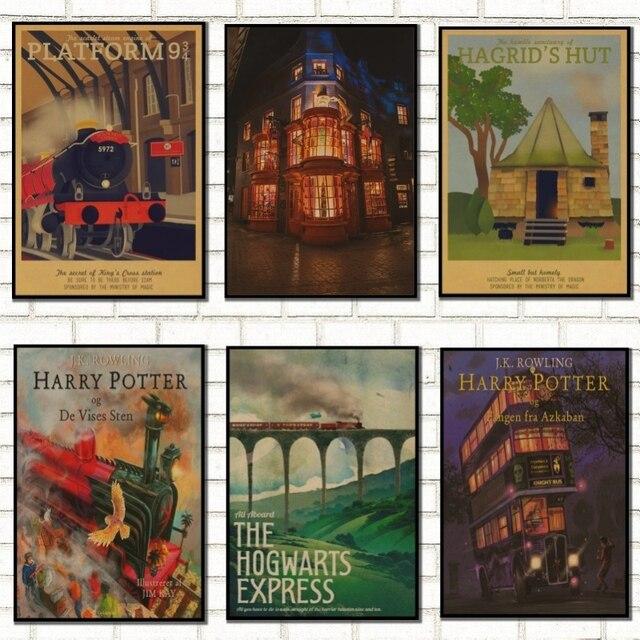 Affiche Vintage Harry Potter Poudlard Express Diagon