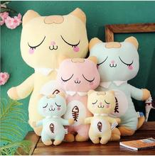 WYZHY  Stay cute shy cat plush toy creative little girl girlfriend children holiday birthday gift 28CM