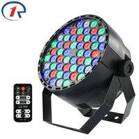 Zjright ir remoto rgbw fullcolor 54LED luz DMX512 DJ disco efecto teñido luces de control de sonido gran concierto etapa