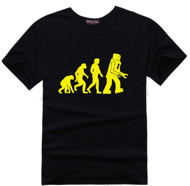 Human Evolution T-Shirt Men Tshirt Geek T Shirt Tee Big Bang Theory Sheldon Cooper