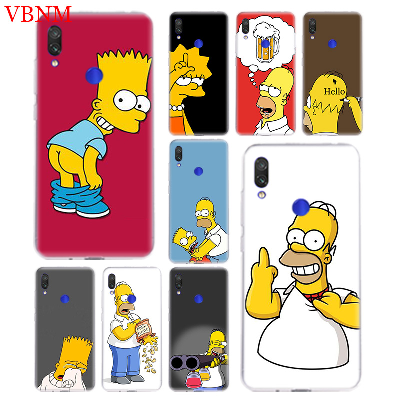 Funny Homer J. Simpson Silicome Case For Xiaomi Redmi Note 4 4X 5 5A 6 7 Pro Redme S2 GO Gift Art Patterned Customized Cases