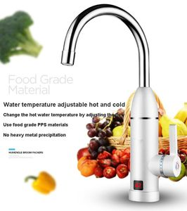 Image 5 - DMWD Electric kitchen instant heating faucet heater hot cold dual use Tankless water quickly heating tap shower with LED display