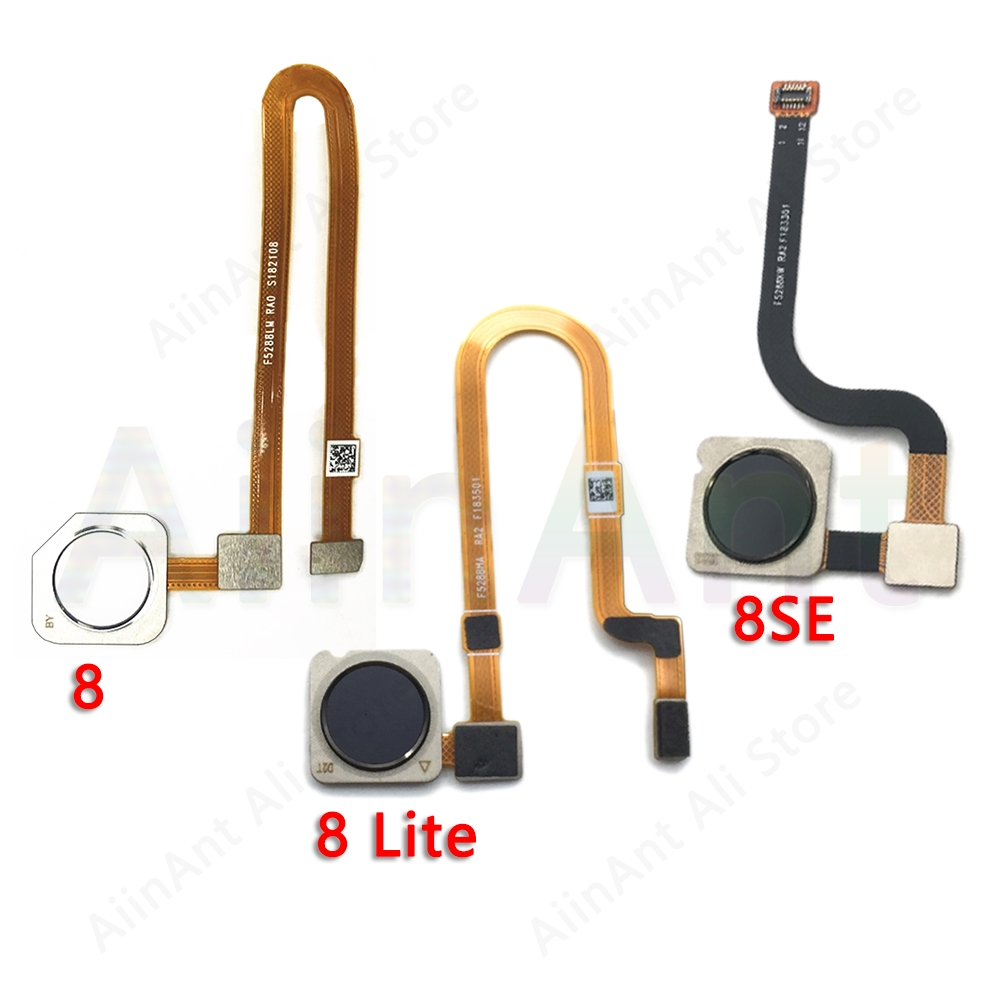 Original Back Home Button Fingerprint Sensor Flex Cable For Xiaomi Mi 8 8SE SE Lite Fingerprint Sensor Flex