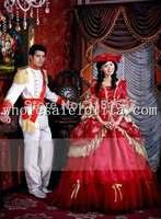 New Wine Red 17 18th Century European Court Dress Marie Antoinette Dress