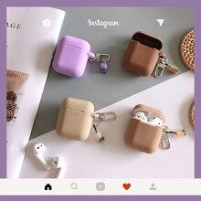 애플 에어팟 보호 케이스에 대 한 귀여운 실리콘 케이스 우유 차 병 소프트 쉘 무선 블루투스 이어폰 헤드셋 커버 가방