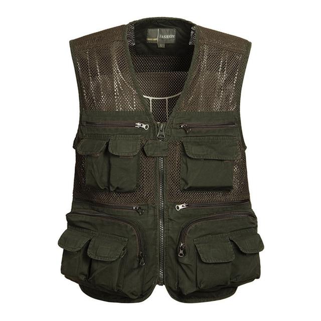 2016 new Hot Sale!!! Summer Mesh Vest,Men's  multi pocket vest Jackets,Summer multifunctional Photography Vest  75