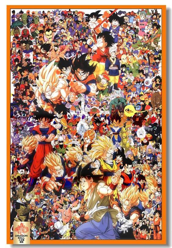 Custom Canvas Art Dragon Ball Poster Dragon Ball Z Wall Stickers Anime Wallpaper Goku Gohan ...