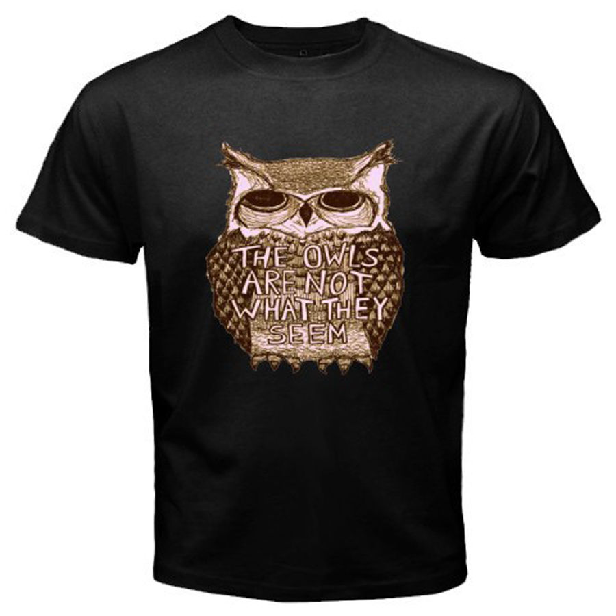 TWIN PEAKS TV Show The Owls Are Not What They Seem Mens Black T-Shirt Size S-3XLHigh Quality Top Tees