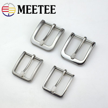 Meetee 35/40mm Solid Stainless Steel Cowboy Belt Buckle DIY Leather Craft Hardware Metal Mens Accessories AP012