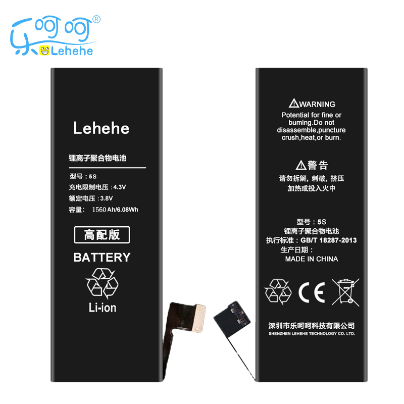 Original LEHEHE Battery For Apple iPhone 5S 5GS 5C High Quality Replacement Bateria 1560mAh Free tools Gifts